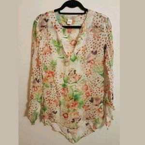 Baby Phat Sheer Floral Tunic...L